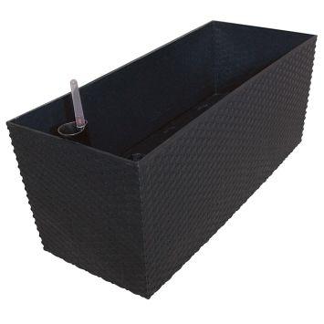 'Rato Case' Blumenkasten, anthrazit, 80 cm