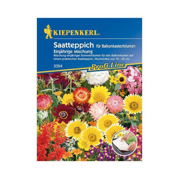 Balkonkastenblumen 'Einjährige Mischung' (Saatteppich)