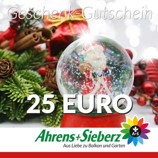 Geschenk-Gutschein, Wert 25 Euro Weihnachtskugel