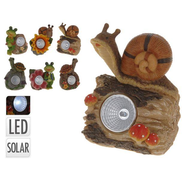 Solarlampe 'Schildkröte auf Stein'
