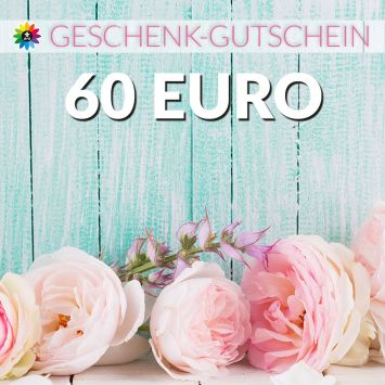 Geschenk-Gutschein, Wert 60 Euro Pfingstrosen