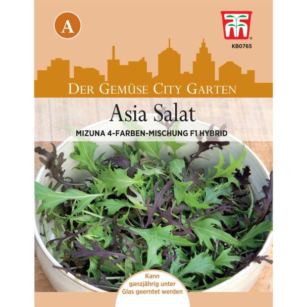 Asia Salat Mizuna 4-Farben Mix, F1 Hybride