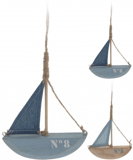 Deko Hänge-Boot, dunkelblau