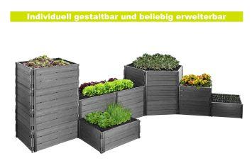Hochbeet Modi Anthrazit, 6 Bauteile à 57,5 x 112,5 x 25 cm