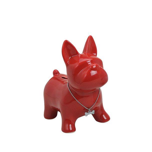 Spardose 'Hund' Keramik, 15 x 10 x 17, rot