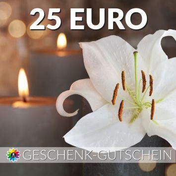 Geschenk-Gutschein, Wert 25 Euro Kerze