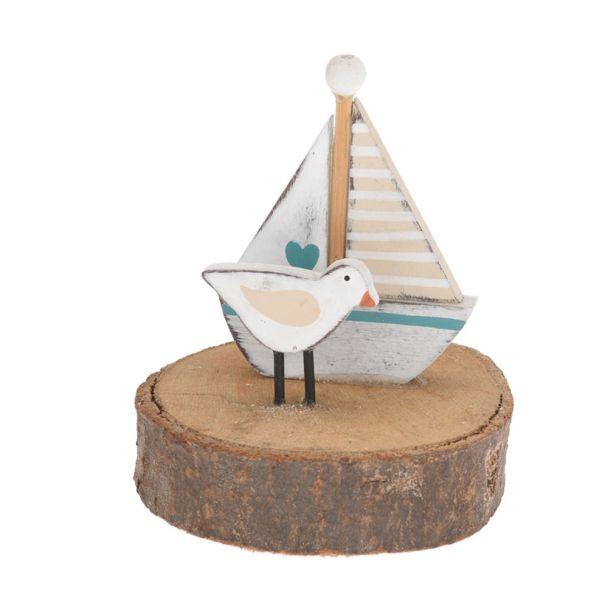 Holzdeko Seemotiv 'Segelboot'
