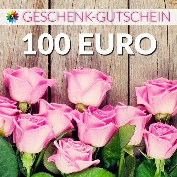 Geschenk-Gutschein, Wert 100 Euro Rosen