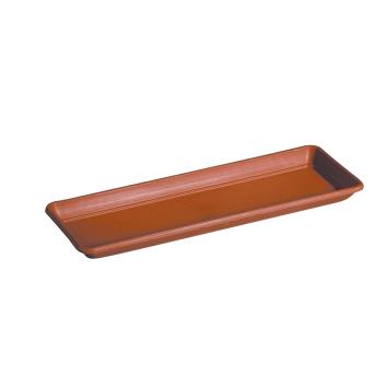 Untersetzer für Blumenkasten Cassetta Day R, 100cm, Terracotta