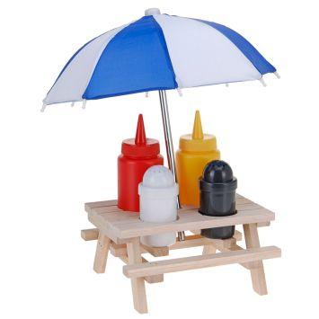 Picknicktisch Menage Set, 6-tlg.