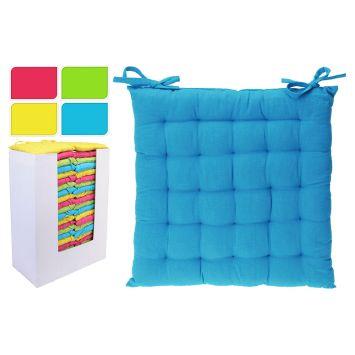 Stuhlkissen, 40 x 40 x 4 cm, blau