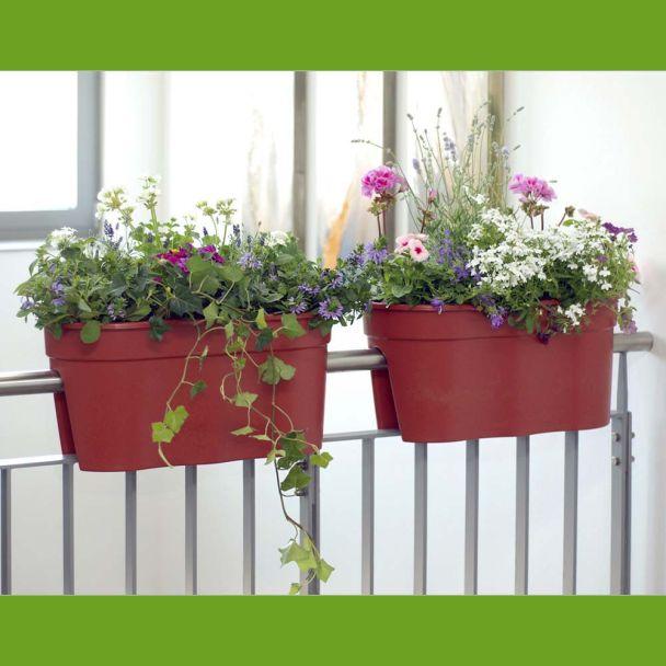 Flowerclip XL, 2er Set, terracotta