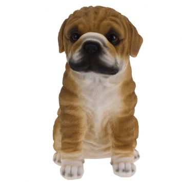 Deko Bulldogge, braun