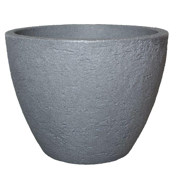 Topf 'Stone' in Betonfarbe, 50 cm Ø