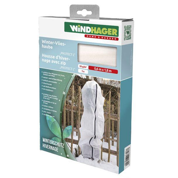 Winter-Vlieshaube, 'PROTECT L', 0,6 x 1,8 m, weiß