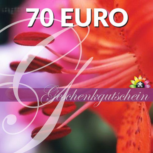 Geschenk-Gutschein, Wert 70 Euro 'RosaLilli'