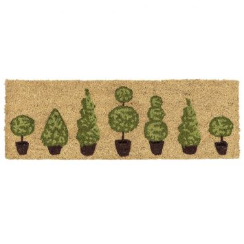 ASTRA Fußmatte Coco Style 'Buchsbäume', 25 x 75 cm