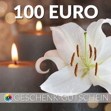 Geschenk-Gutschein, Wert 100 Euro Kerze