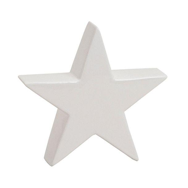 Stern aus Keramik in Weiß