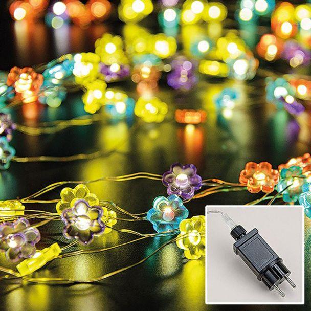 Lichterkette Blume MicroLED160 bunt