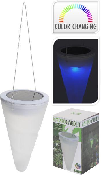 Solarlampe Kegelform, farbwechselnd