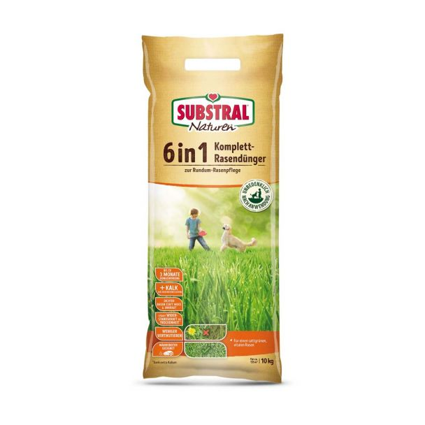SUBSTRAL® - NATUREN 6 in 1 Komplett-Rasendünger, 10 kg (1 kg = € 2,80)