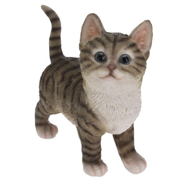 Deko Katze, grau
