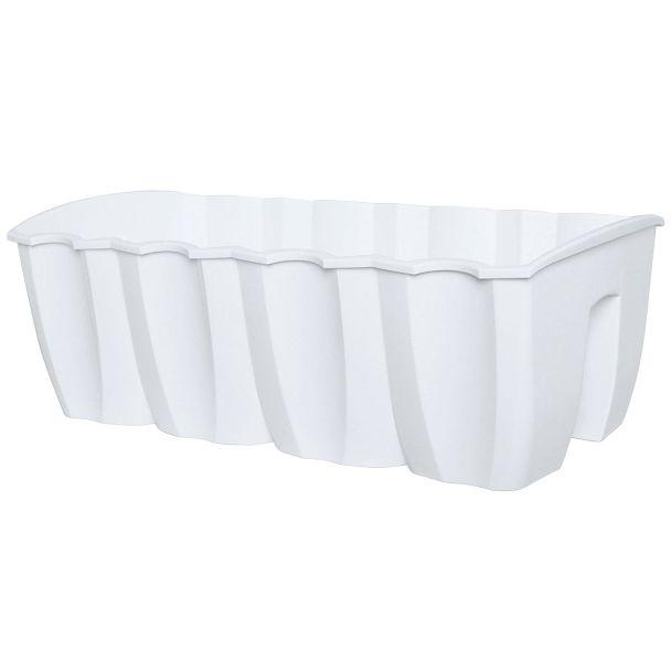 Crown Geländer-Blumenkasten, weiß