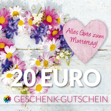 Geschenk-Gutschein, Wert 20 Euro Muttertag