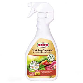 SUBSTRAL® - NATUREN Schädlings-Stopp 4in1 Spray, 750 ml, (100 ml = € 1,33)
