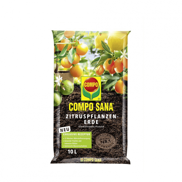 Compo SANA Zitruspflanzen-Erde, 10 Liter (1 l / € 0,80)