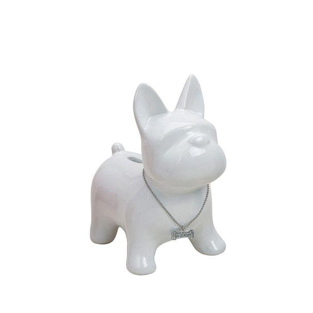 Spardose 'Hund' Keramik, 15 x 10 x 17, weiß