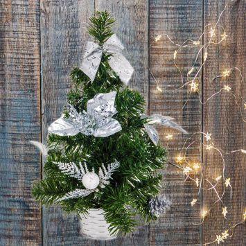 Deko Mini-Tischweihnachtsbaum - Künstlicher Tannenbaum, 40 cm