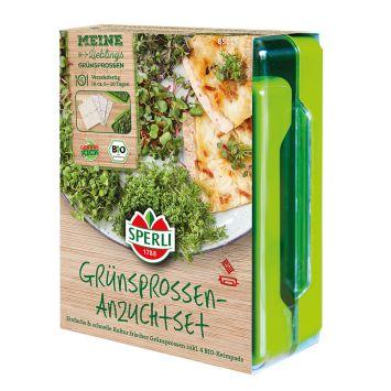 Grünsprossen-Anzuchtset inkl. 4 BIO-Keimpads
