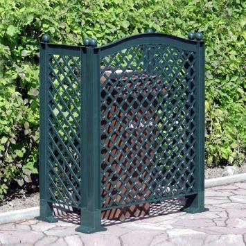 Mülltonnenspalier, grün