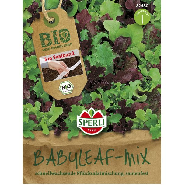 BIO Salat Babyleaf Mischung - Saatband