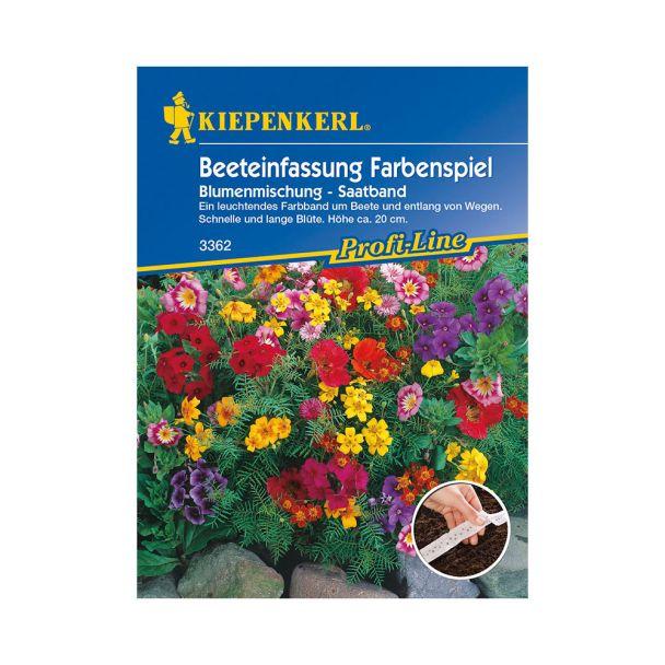 Beeteinfassung Farbenspiel Blumenmischung (Saatband)
