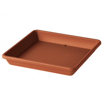 Untersetzer für Pflanztopf Quadro Day R, 38cm, Terracotta