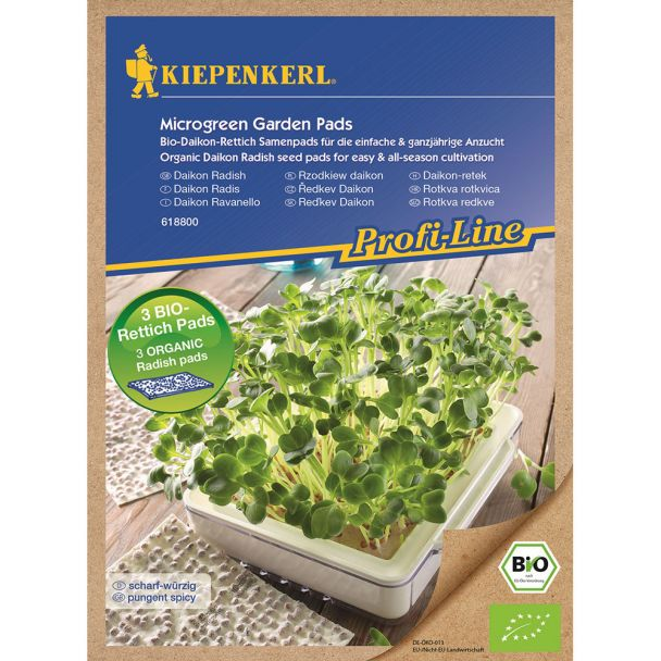 ProfiLine Bio Daikon-Rettich Nachfüllpads für MicroGreen Garden