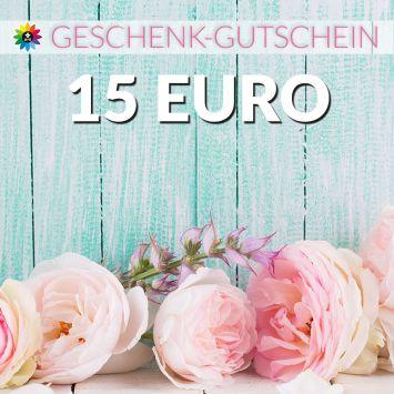 Geschenk-Gutschein, Wert 15 Euro Pfingstrosen