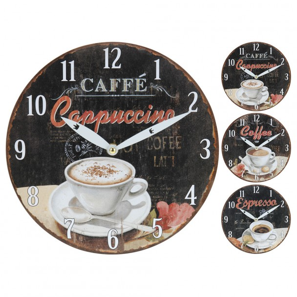 Wanduhr Kaffeedesign 'Cappuccino', 23,5 cm