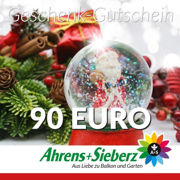Geschenk-Gutschein, Wert 90 Euro Weihnachtskugel