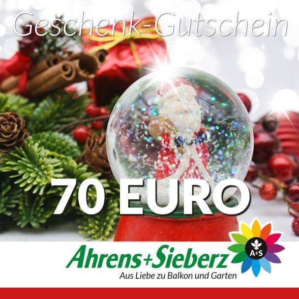 Geschenk-Gutschein, Wert 70 Euro Weihnachtskugel