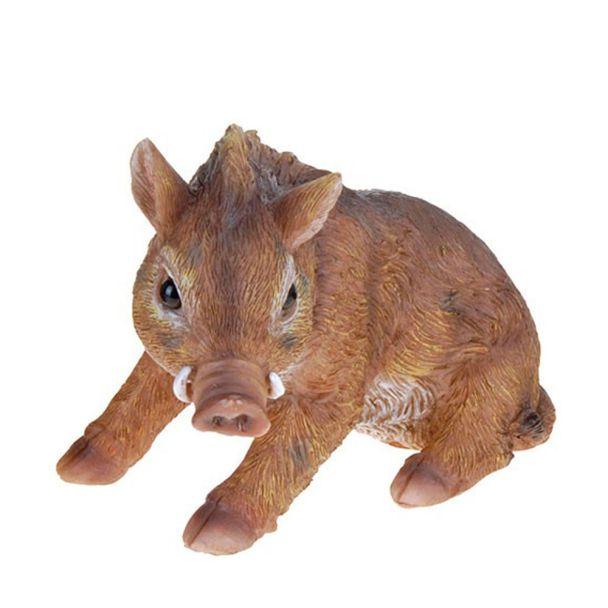 Deko Wildschwein, sitzend