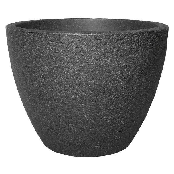 Topf 'Stone' in Anthrazit, 50 cm Ø