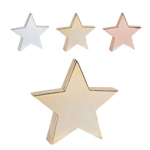 Stern aus Keramik, 21 x 5 x 20 cm, gold