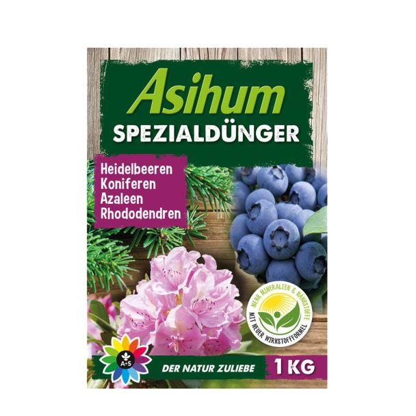 Asihum Spezialdünger 1 kg für Heidelbeeren, Koniferen, Azaleen, Rhododendren u.a. (100 g / € 0,45)