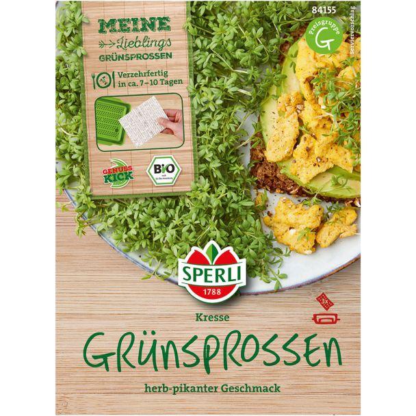 Grünsprossen 'Kresse' Bio-Keimpads