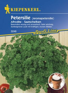 Aromapetersilie 'Afrodite' (Saatscheiben)