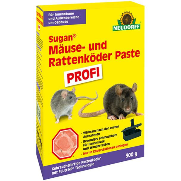 Sugan Mäuse- u.Rattenköder Paste Profi 300 g (100 g = € 3,66)